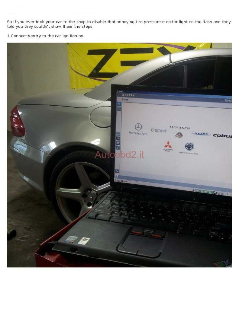 disable Benz tire pressure monitor light on with STAR-01